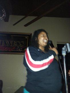 Nora, rocking karaoke. In your face, bronchitis.