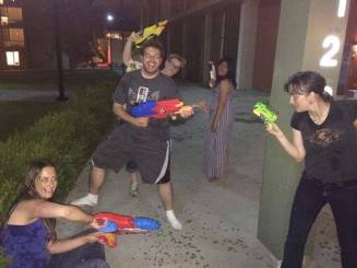The only proof we have of the Great Clarion San Diego Water Gun Fight of 2014. Photo taken by Zach.