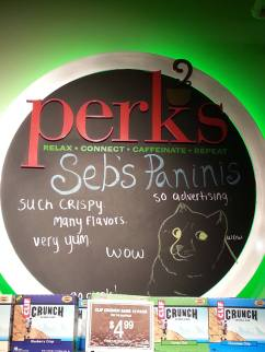 My boyfriend's name is Sebb. I think this sign from the cafe behind the UCSD bookstore made subconsciously me more homesick than I thought.